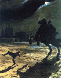 Эскиз к поэме Медный всадник (А.Н. Бенуа)