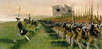 Атака прусских гренадеров в битве при Хохенфриденберге (4 июня 1745 г.)
