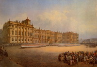 Вид Зимнего дворца с запада (В.С. Садовников, 1850 г.)