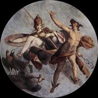 Гермес и Афина (Б. Шпрангер)